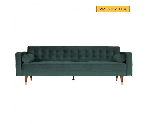 Ashleyy 3 Seater Sofa (Emerald Green)