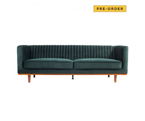 Freida 3 Seater (Emerald Green)