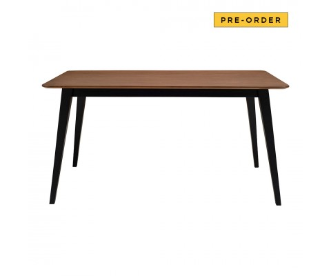 Platon Dining Table Rectangular (Walnut+Black)