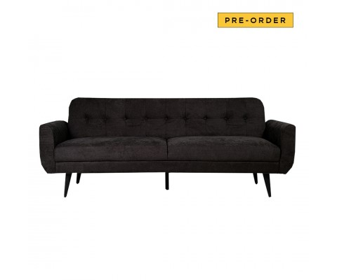 Vika 3 Seater Sofabed (Black)