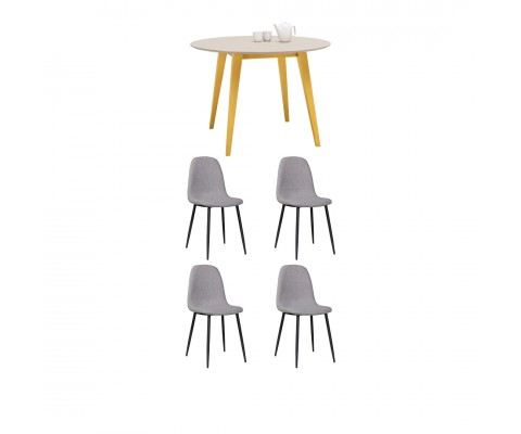 Platon Round (Natural) Dining Combo