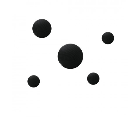 Dots Wooden Hooks (Black)