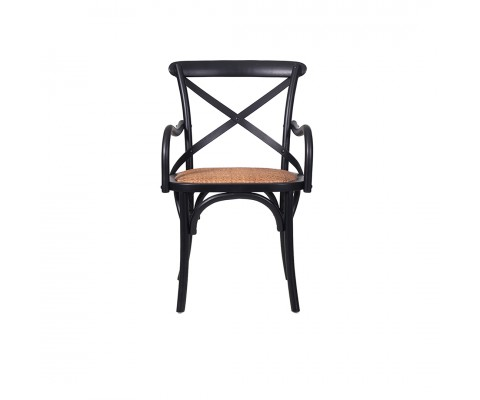 Bylba Rattan Chair (Black & Natural)