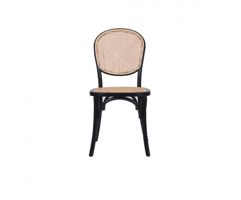 Luvisa Rattan Chair (Black & Natural)