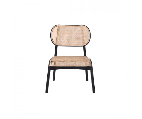 Luvisa Rattan Lounge Chair (Black & Natural)