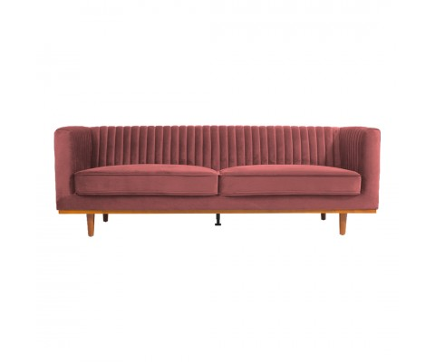 FREIDA 3 SEATER SOFA (BLUSH)