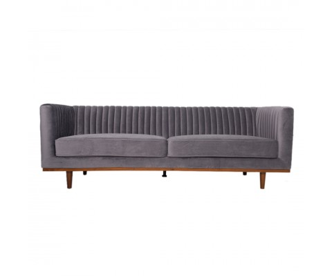 FREIDA 3 SEATER SOFA (ASH GREY)