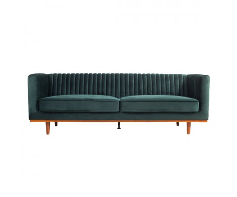 FREIDA 3 SEATER SOFA (EMERALD GREEN)