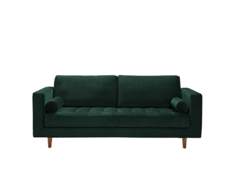 LUDVIG 3 SEATER SOFA (GREEN)
