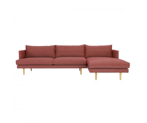 Duster 3 Seater Chaise Sofa (Auburn)