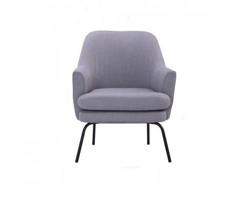 Lucian Lounge Chair (Pewter Grey)
