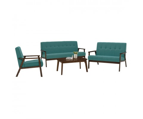 Triton 1+2+3 Sofa Set (Emerald)