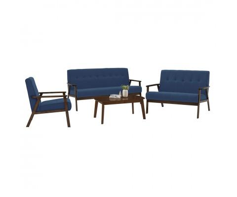 Triton 1+2+3 Sofa Set (Midnight Blue)