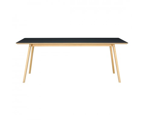 Tyrus 2.0M Dining Table (Black Natural)