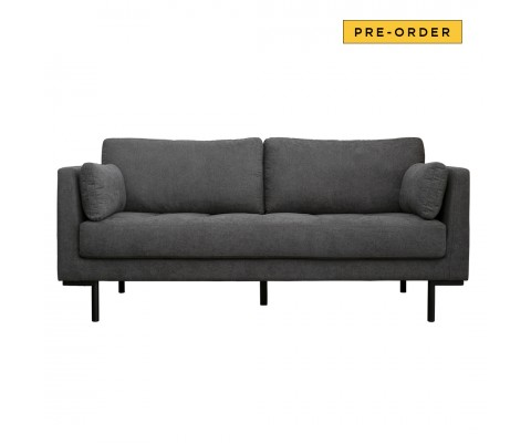 Herlene 3 Seater Sofa (Dark Grey)