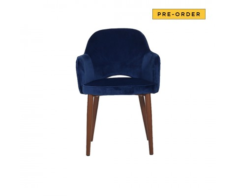 Novae Dining Chair (Velvet Navy Blue)
