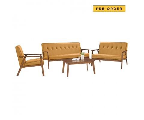 Triton 1+2+3 Sofa Set (Caramel)