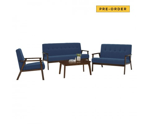 Triton 1+2+3 Sofa Set (Midnight Blue)