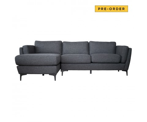 Wilma L Shape Sofa (Black)