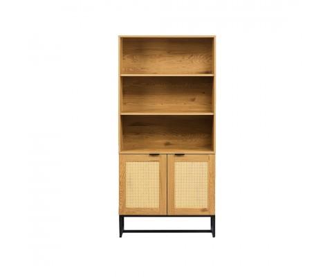 Farsk Bookshelf (Natural+Rattan)