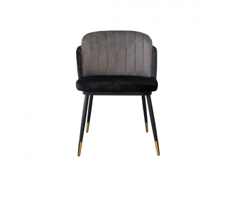 Fynde Chair Grey Velvet