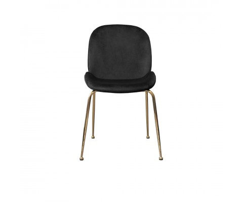 Nylssa Chair Black Velvet with Gold Legs
